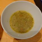 フォカッチェリア ラ ブリアンツァ - このスープはイマイチだった