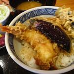 青海岸 - 天丼セットの天丼