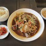 ゴールデンタイム - 国産豚肉と牛レバー野菜炒め(2018/10/09撮影)
