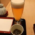 94355258 - 生ビール&お通し(もずく)