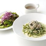 【3】カキとアオサ海苔の和風クリームパスタ
