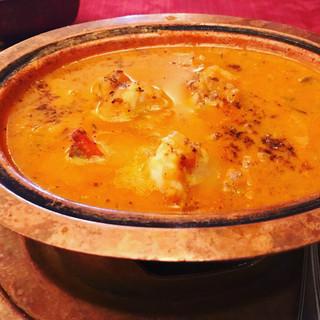 ぶはら - 料理写真:エビカレー   スパイスパラダイスです(^o^)複雑でとても美味しい❤️