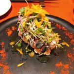 94378685 - 真鯖のマリネのスモークと特製スモークポテトサラダ(950円)