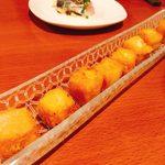 94378825 - ひよこ豆ペーストとチーズのフリット(650円)