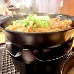 松屋 - コンロ鍋での提供