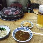 元祖 京城屋 - 生ビールとお通し