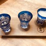 94393061 - 奈良の地酒。3種。左から篠峯、春鹿、金鼓。