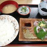 黒潮 - 料理写真:アジの刺身