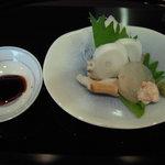 旬魚旬菜 むらおか - 刺身(たこ・かわはぎ)