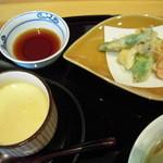 旬魚旬菜 むらおか - 天ぷらと茶碗蒸し
