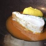 L'eau Blanche - *低温調理された「鰆」は、本来の旨みを感じ美味しいこと。 金美人参のソースも甘みを感じ、よく合います。