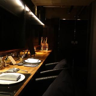 カウンター個室※完全防音ではありません予約状況により完全個室になる事もあります