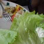 まきばレストラン - ジャンボバーガーの野菜