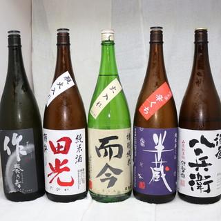 地酒、全国30種類以上の銘柄日本酒がたのしめる!