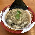 寿製麺 よしかわ - 「牡蠣そば」850円(大つけ麺博2018第2陣)