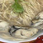 寿製麺 よしかわ - プリプリの牡蠣(大つけ麺博2018第2陣)