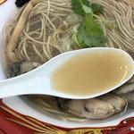 寿製麺 よしかわ - 牡蠣100%スープ(大つけ麺博2018第2陣)