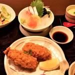 博多海鮮 にたや - カキフライ御膳。