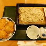 越後長岡 小嶋屋 - 名物へぎそばと二段盛タレかつ丼セット