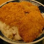越後長岡 小嶋屋 - 名物へぎそばと二段盛タレかつ丼セットの二段盛タレかつ丼