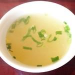 神戸製麺 - 熱々の特製スープ