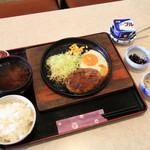 カフェナナ - 鉄板ハンバーグ定食