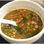 つけめん 蜩 - スープ割りはこんな感じ。