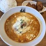 YEBISU - チーズ担担麺、Bセット、ライス大