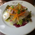 bistro oeuf oeuf - ランチ前菜 鮮魚のカルパッチョ サラダ仕立て