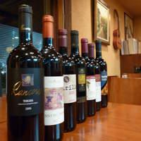 オステリア・マンジャベーネ - お好みの味とお値段を伝えていただければ、オーナー自らいくつかのワインをピックアップいたします!!