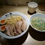 麺や佑 - 鶏豚つけ麺チャーシュー増味玉入り1180円