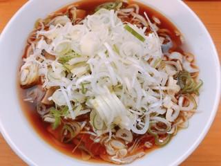 中華そばにぼし - 煮干し中華 中太麺 メンマ、ネギちょい増し