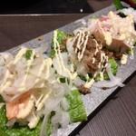94437885 - 包み葉寿司三種盛り
