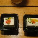 もぐら 六段 - お通しは チーズ豆腐 美味しい!