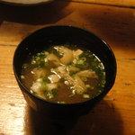 もぐら 六段 - お味噌汁 (〆の一杯は、お通しとコンビ )
