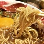 東大 - 麺は中太低加水たまらん