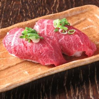 絶品★馬肉・牛肉のお寿司!炙り寿司!