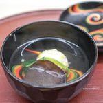 久丹 - 車海老ととうもろこしの真薯、 天然の木耳