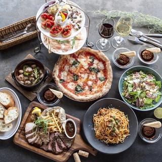 【飲み放題付きコース】季節料理や受賞ピッツァをコースで!