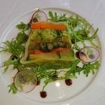 ラ メゾン ドゥ グラシアニ - 前菜の野菜のテリーヌ