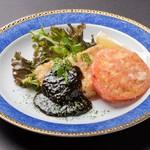 白身魚とトマトのステーキ