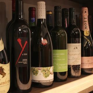 厳選されたワインの数々