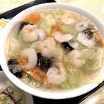 上海料理 随苑 - 海老野菜タンメン