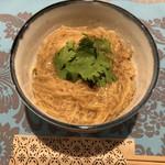 ZEUSのかくれ家 - 台湾屋台名物麺線。鰹節とにんにくが効いてて〆にどうぞ。