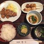杉本 - 料理写真:鳥定食@1250円税込