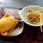 蕎麦CAFE 福 - 揚げ蕎麦 & そば稲荷(2011年9月)