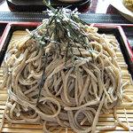 蕎麦CAFE 福 - 天ザル(大盛り)(2011年9月)