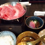 十二段家 - すき焼き定食 2600円