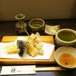 蕎麦招人 仟 - 天せいろの天ぷら