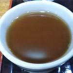 日本蕎麦 麺酒家 縁 - 蕎麦湯で割りました(2018年10月10日撮影)